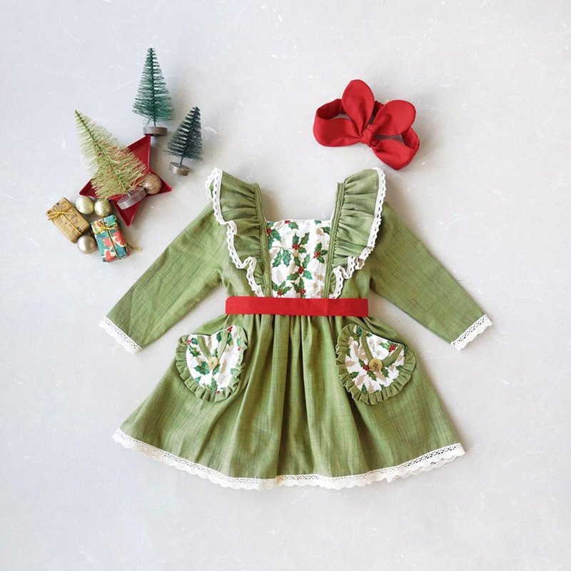 Christmas Girl Dress Hand Woven Cotton 100%,Natural Dyed