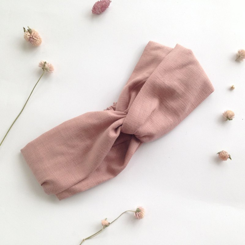 Light Rose Cream - Wide Version Advanced Japanese Cotton & Linen - Shibuya Shiro Handmade elastic band