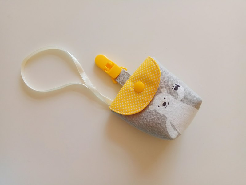 Gray wave bear bear pacifier bag pacifier bag