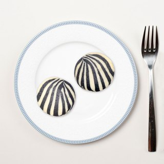 Healing Department Zoo Shaped Cookies - Zebra Style (6 Pieces)