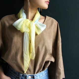 Plant stained silk scarf