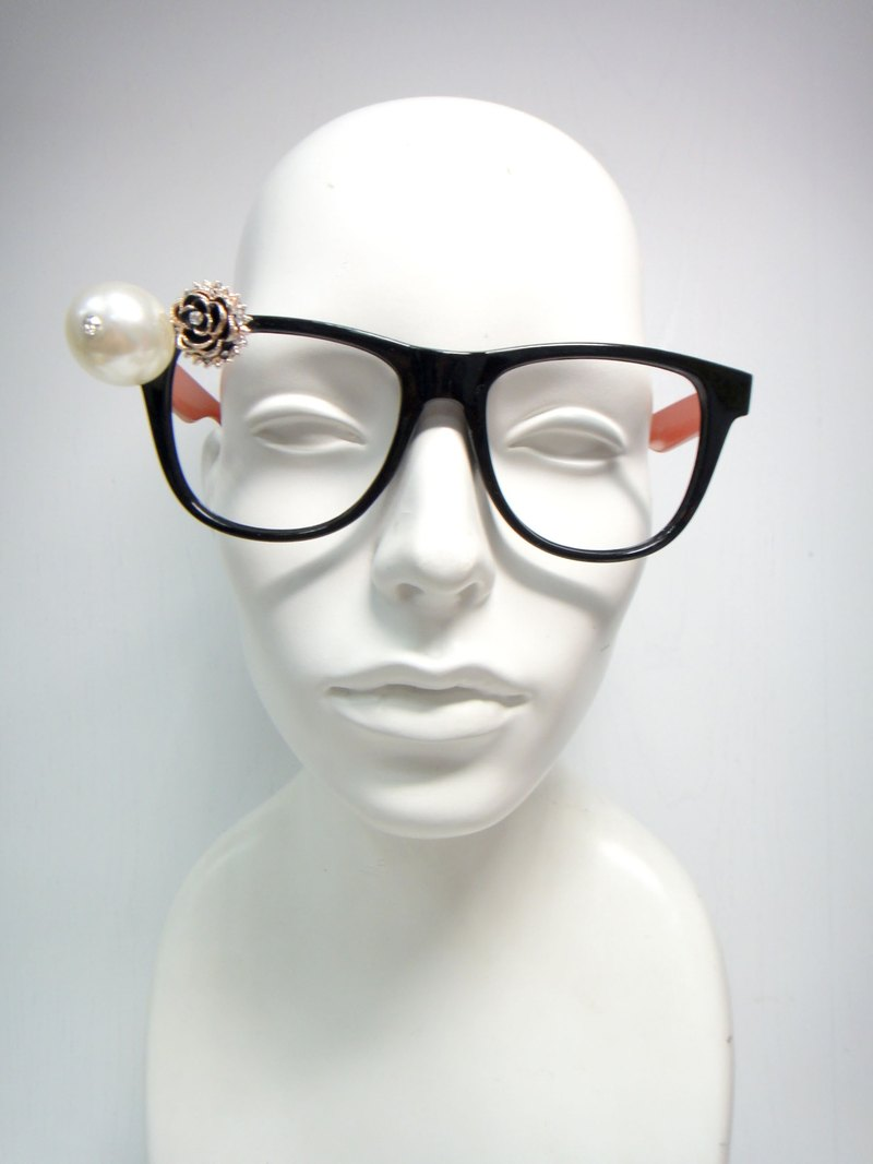 TIMBEE LO pearl flower decorative glasses frame glasses