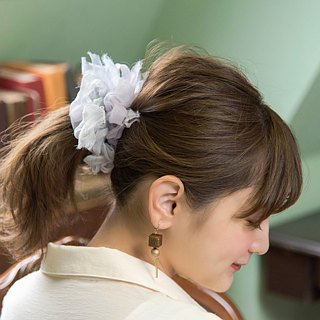 Viola: Blooming Sakiami Colourful Hair Scrunchy / Hair Accessory / Hair Tie