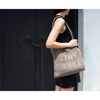 "Crochet Quote Tote Bag | ""Stay Simple"" in Stardust"
