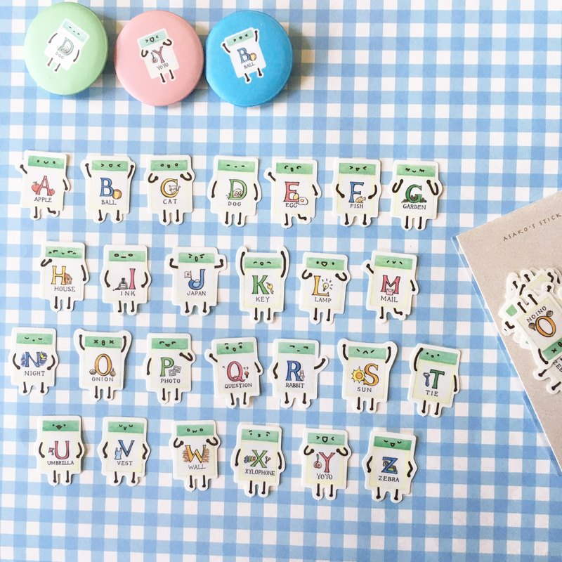 Stickers Set / Letter Eraser Set / Stationary Talk