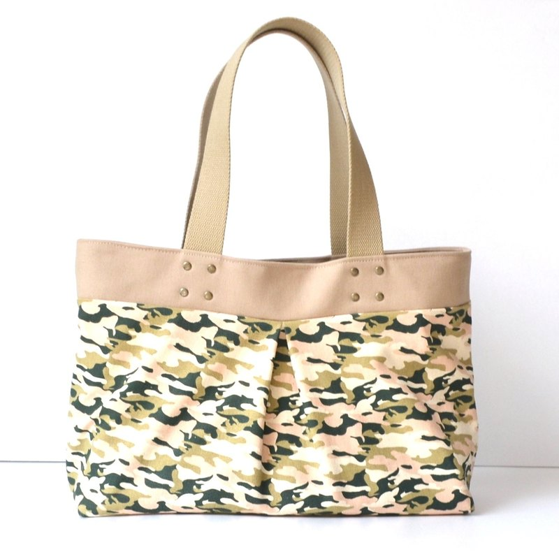 Camouflage tote bag/shoulder bag/handbag handmade simple canvas