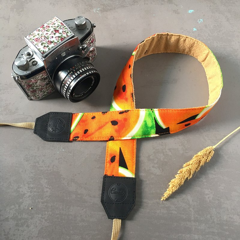 Orange Water Melon Camera Strap