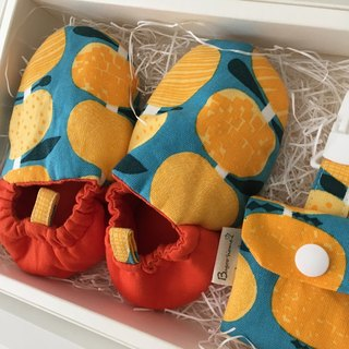 "Bugoo ""baby toddler shoes! Two group gift box ""Nordic orange!"