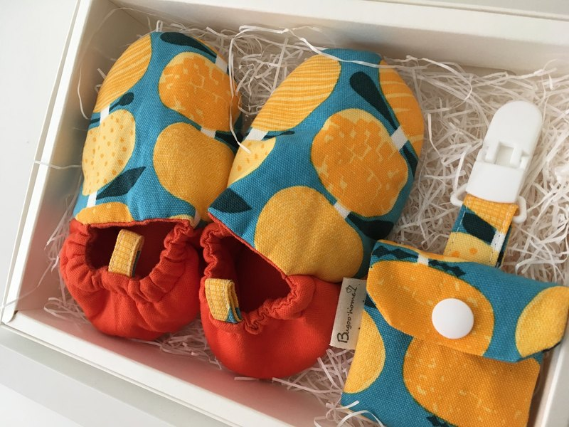 Bugoo baby toddler shoes two-piece gift box Nordic orange