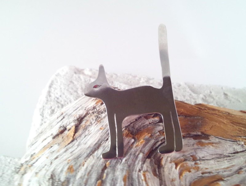 ☆ Silver Cat ☆ Brooch