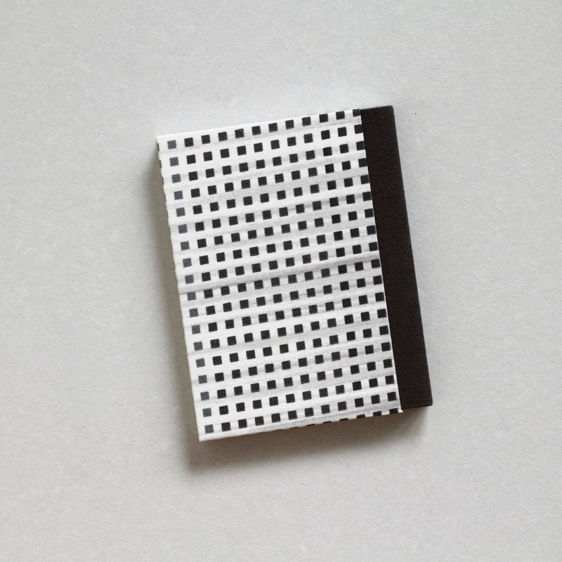 Handmade Notebook - Small Square Pattern Covers, Dark