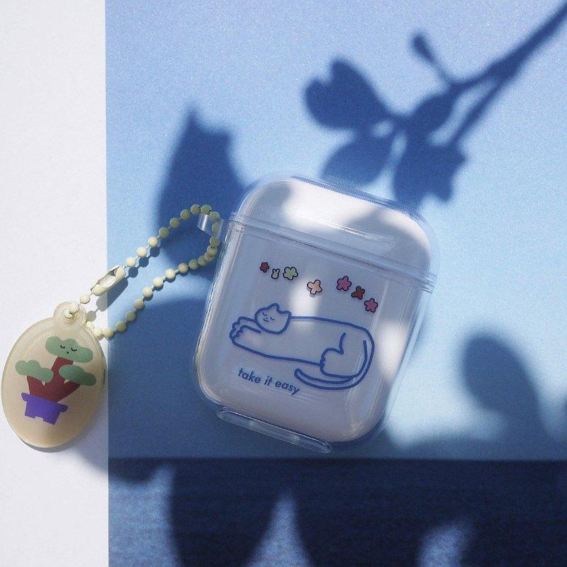 貓耳機透明保護套適用於蘋果airpods1/2代