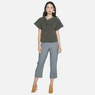 Front Knot Shirt (Olive)