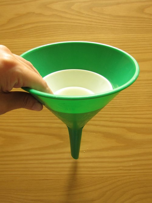 Finland plast green plastic funnel three groups