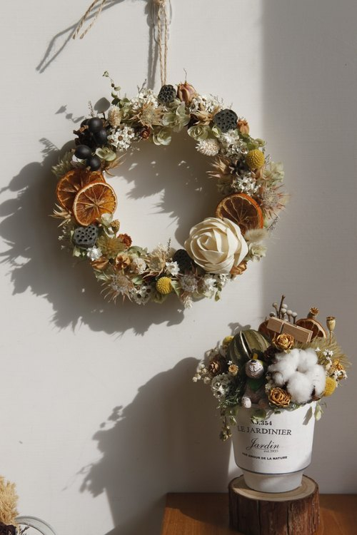 Custom shop / enter the new home decoration wreath / potted flowers