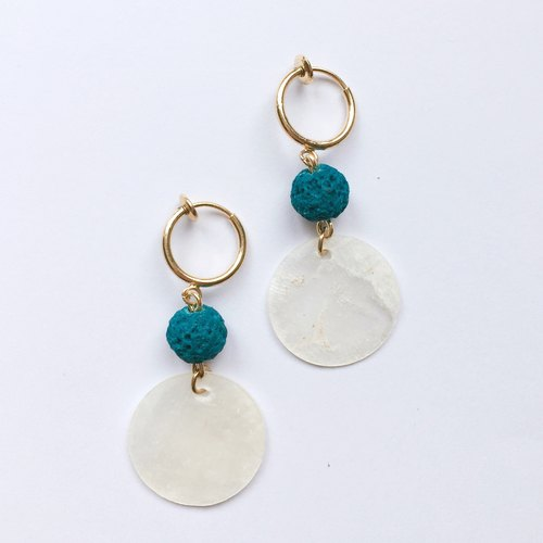 Beach snowman needle / clip earrings