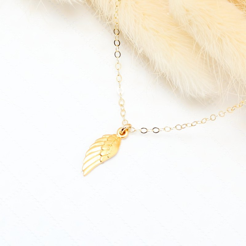 Angel Wing s925 sterling silver 24k gold plated necklace Valentine's day gift