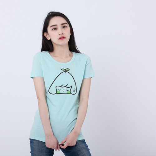 little mountain peach cotton T-shirt Women/Green