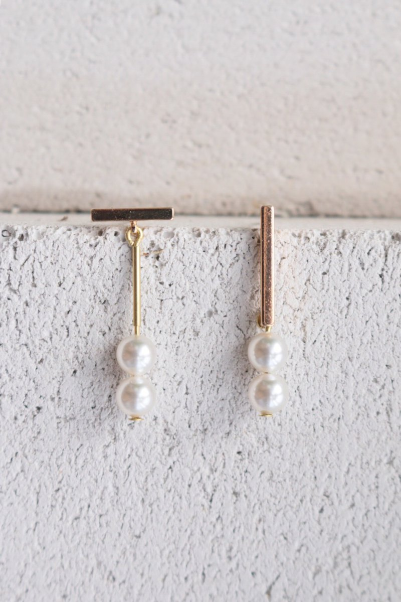 Pearl Earrings 1139 - Damn Chocolate