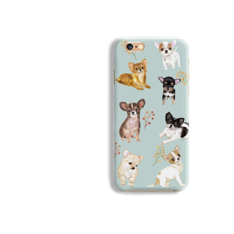 Chiwawa dog Matt hard Phone Case iPhone X 8+ 7 6 S8 plus Samsung S8 S7 LG Sony