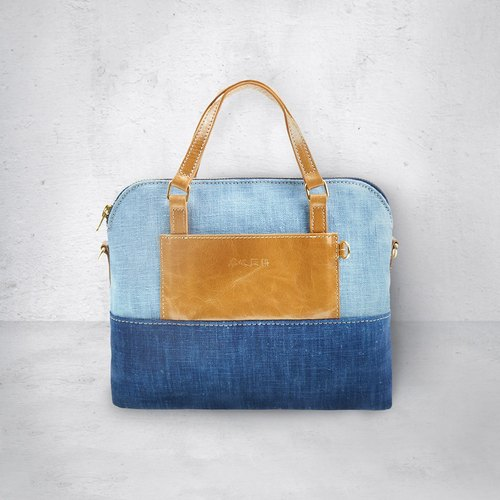 Zhuo also blue dye - Ying Shui series handbags