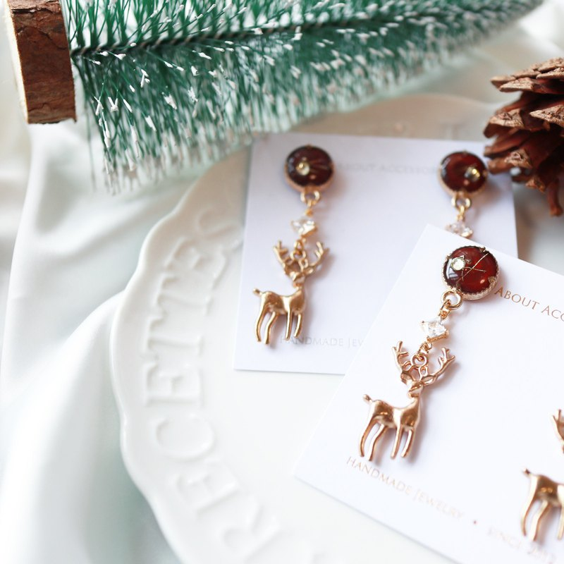 Christmas limited series - Christmas deer ear pin / ear clip