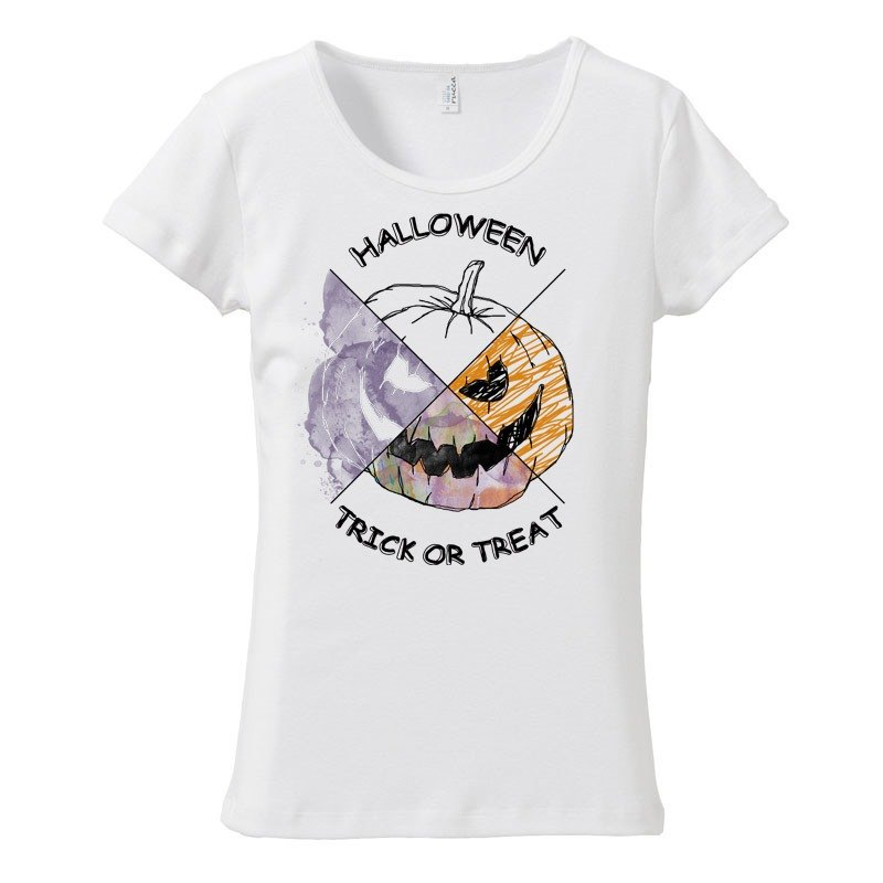 [Women's T-shirt] Halloween pumpkin