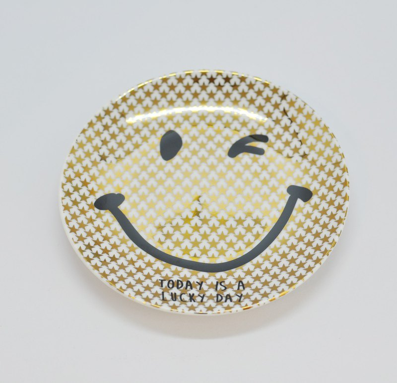 [SHINA CASA, Japan] Gold Smile Gold Smile Series Gold Smile Disc/Dish Saucer/Small Dishes/Accessories Plate 11.5cm