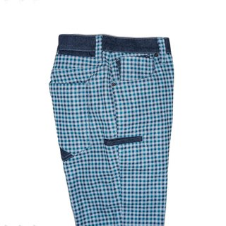 Warm Man Series Tokyo Classic Green Check 9 Pockets classic green Check nine-pocket warm men's pants