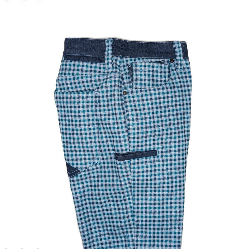 TO001 Classic Green Check Nine Pockets Warm Men's Pants Tokyo Classic Green Check
