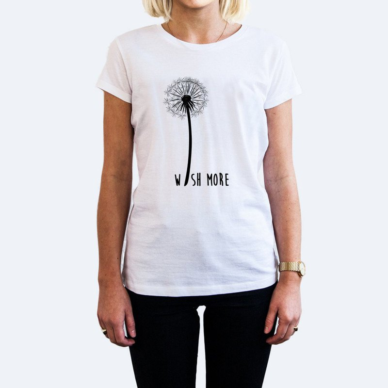 Wish More Dandelion UNISEX WHITE T SHIRT