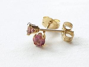 every day earrings pink tourmaline
