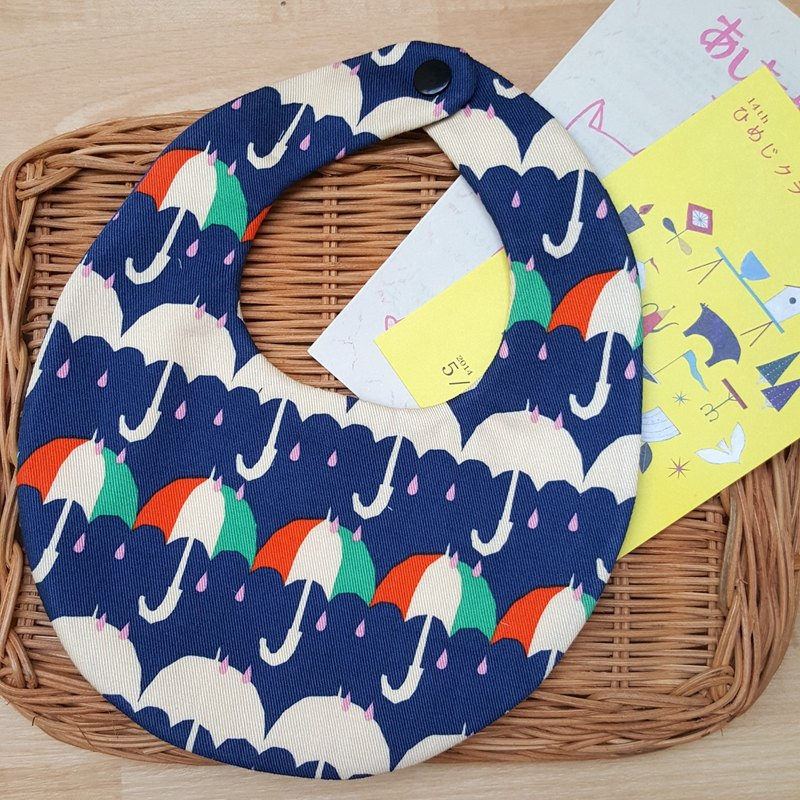 [Miya ko. Grocery cloth hand-made] bib pocket / six yarn / baby bib / shape bib