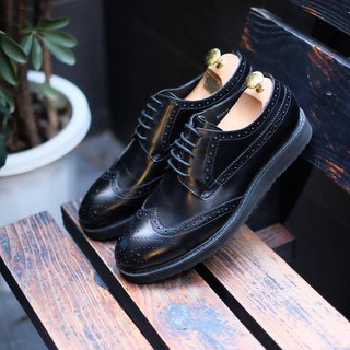 Placebo black platform men's shoes