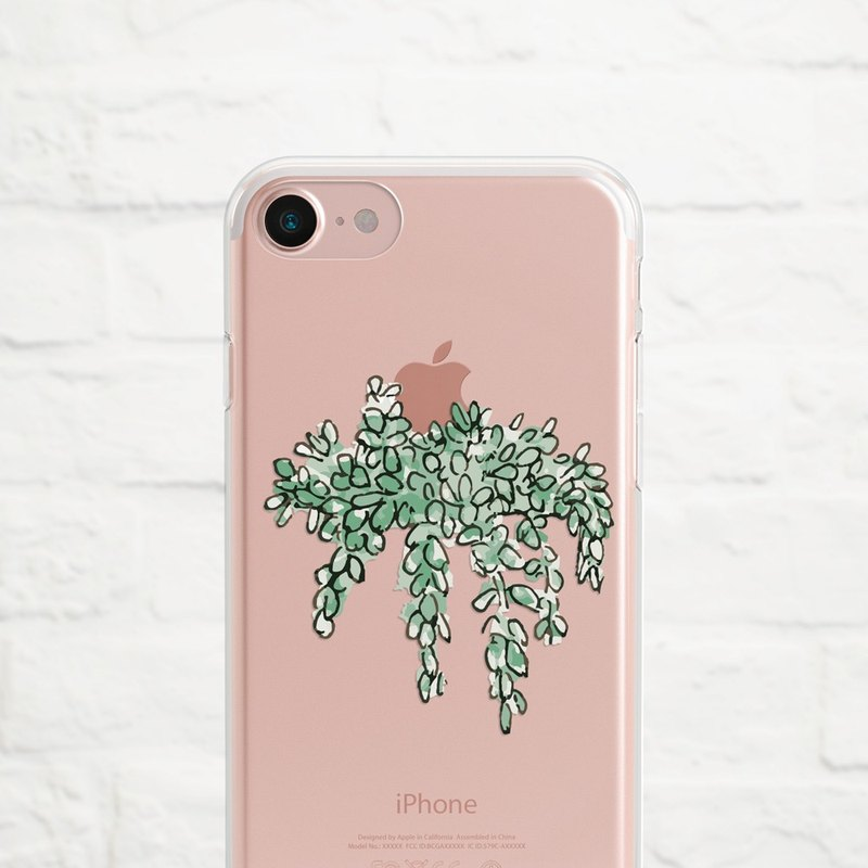 Hanging Plants, Clear Soft Phone Case, iPhone X, iphone 8, iPhone 7, iPhone 7 plus, iPhone 6, iPhone SE