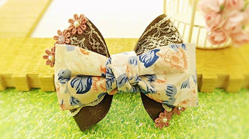 §HUKUROU§ French cloth three-dimensional bow hairpin 7