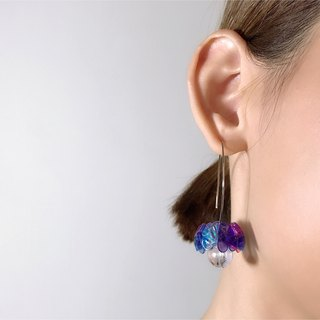 Merilokyuen | Dummy Dummy // Puple Blue Earrings