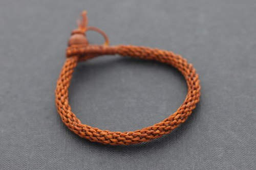 Woven Bracelets Men Women Unisex Simple Rust Brown Boho Yoga Friendship