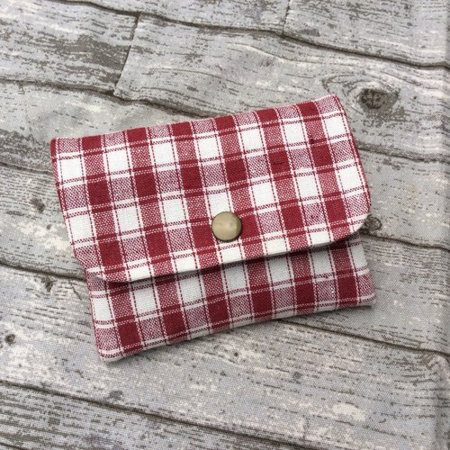 Face Paper Bag Card Pack Purse Linen Plaid