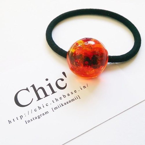 Ryukyu glass Hair orange mix