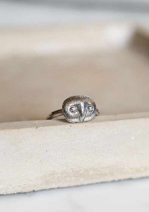 Petite Fille Women's Unfinished Silver Ornaments Mini Collection Little Owls Cang Cang Silver Ring