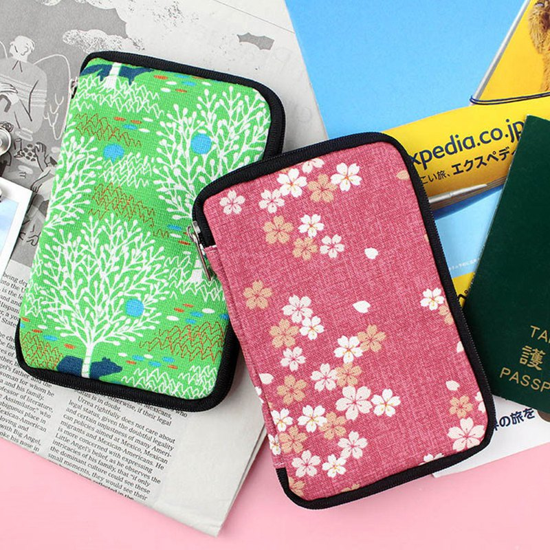 Officially sold Taiwan flower zipper passport case / passport bag / passport holder