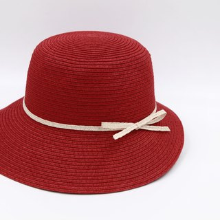 [Paper cloth home] Hepburn hat (red) paper line weaving
