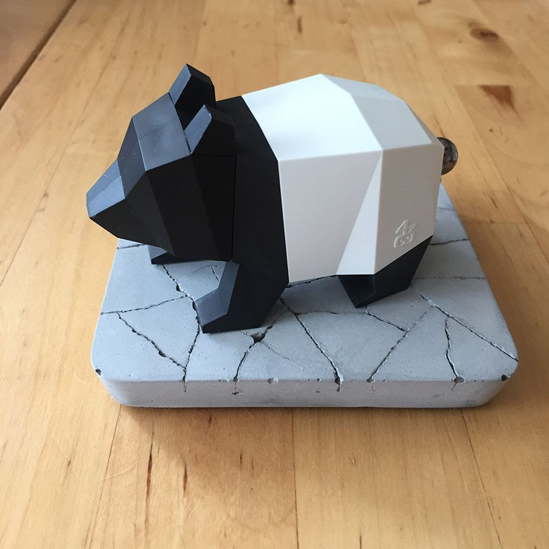 Origami zoo series bear limited edition disguised as a malay film