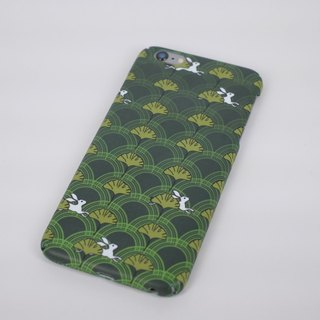 Running rabbit iPhone Android phone case phone case all-inclusive green rabbit leaves pastoral