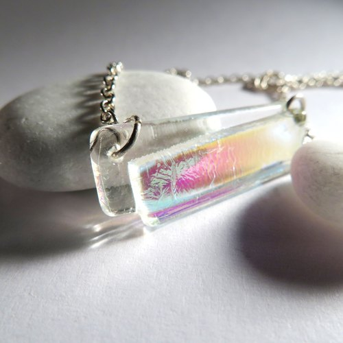 Jewelry glass word chain / E1