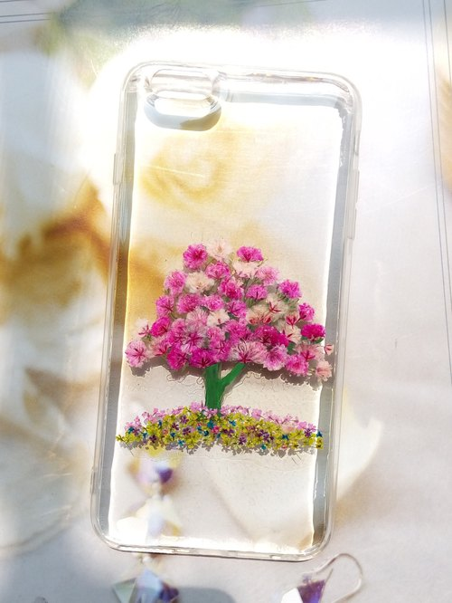 Pressed flower phone case, Handmade phone case, iPhone6plus,iphone6splus Snowing