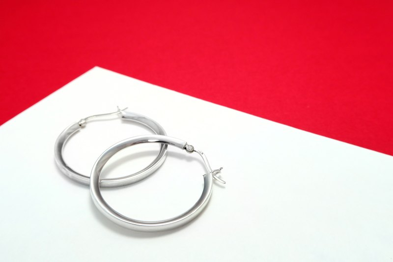 Ring / C Earrings with V-925 Sterling Silver Earrings - 64DESIGN