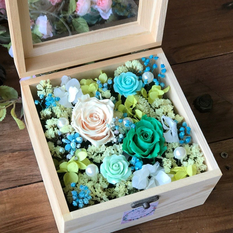 璎珞Manor*C00*Dry flower box / eternal flower dry flower / exchange gift / gift preference