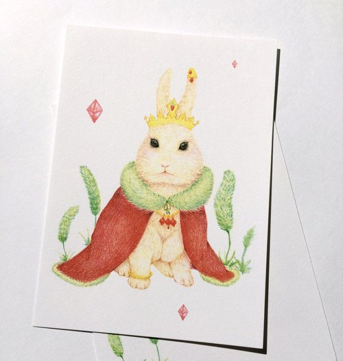 DUCK duck fun rabbit Queen Universal Card postcard
